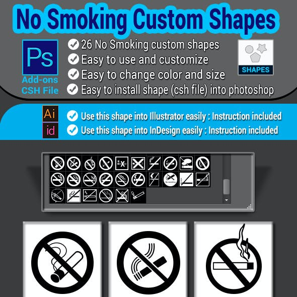 Brushes And Csh Photoshop Symbols From Graphicriver
