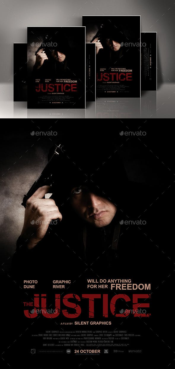 action movie poster template by silentgraphics graphicriver