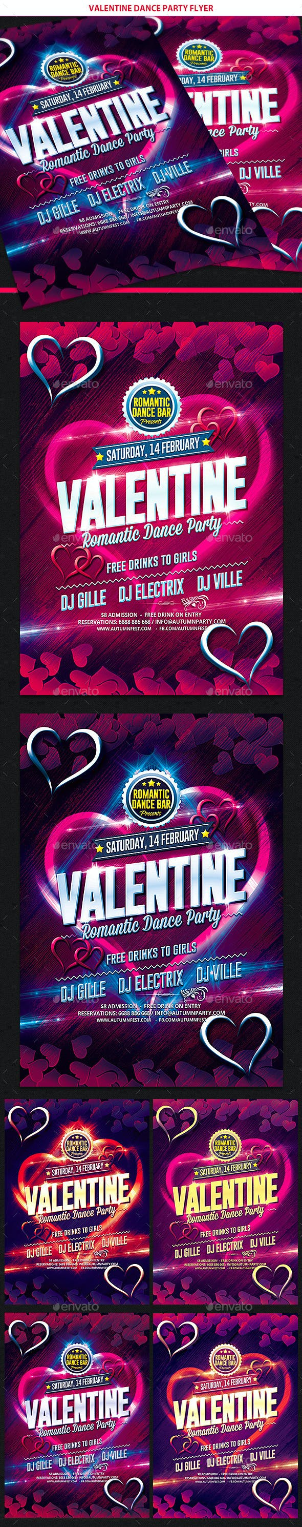 Valentines Day Dance Party Flyer By Gilledeville Graphicriver