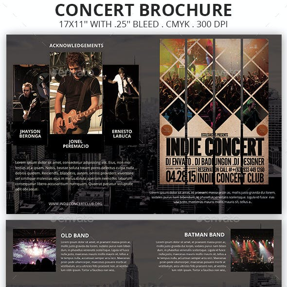 Poster Music Brochure Templates From Graphicriver