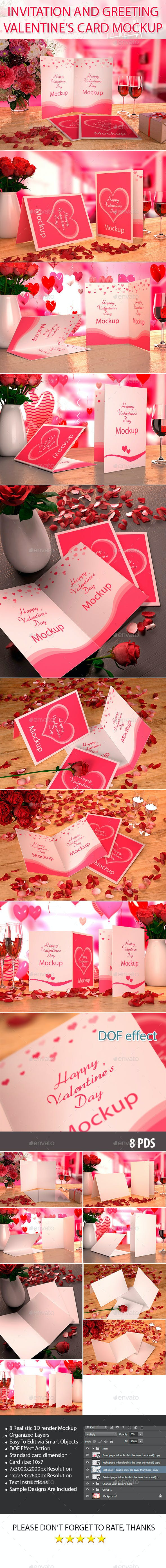 Valentine S Card Mockup By Pasulukha Graphicriver