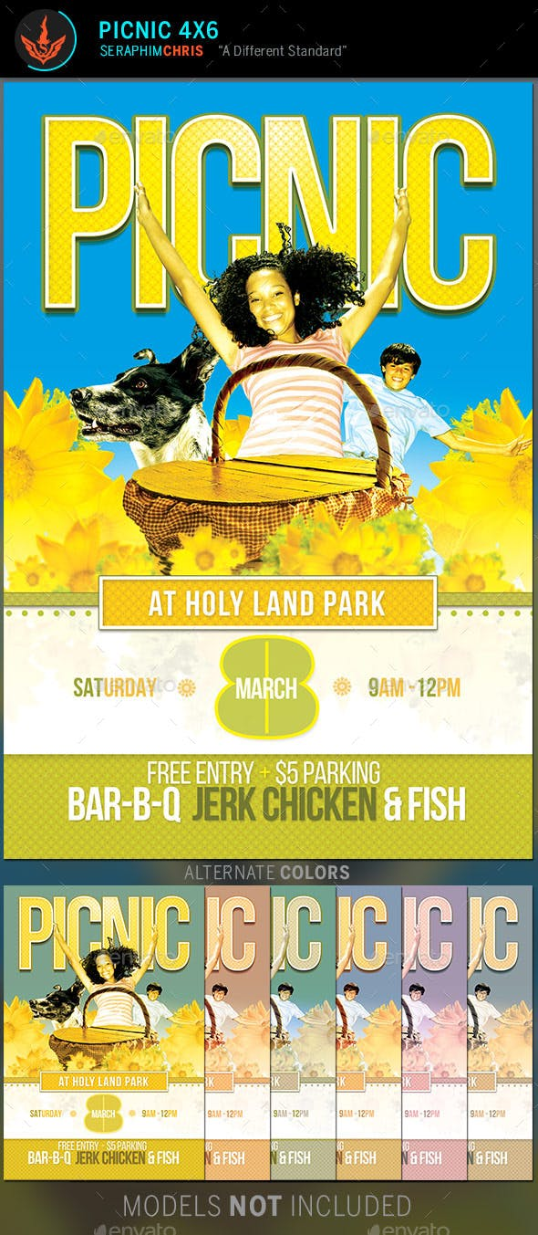 picnic flyer template by seraphimchris graphicriver