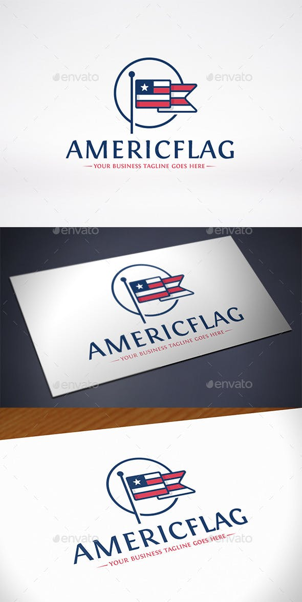 american flag logo template by bosstwinsmusic graphicriver