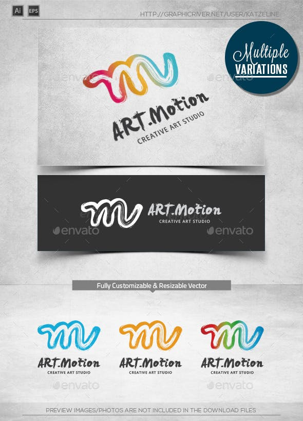 Motion Art Logo Template By Katzeline Graphicriver
