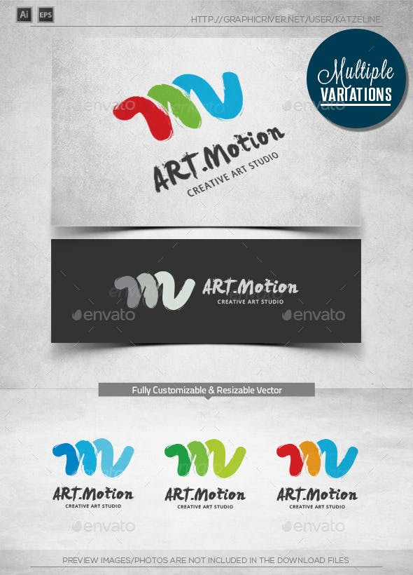 Art Motion Logo Template By Katzeline Graphicriver