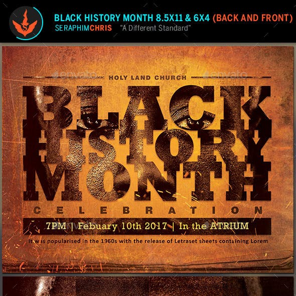 Black History Month Flyer Graphics Designs Templates