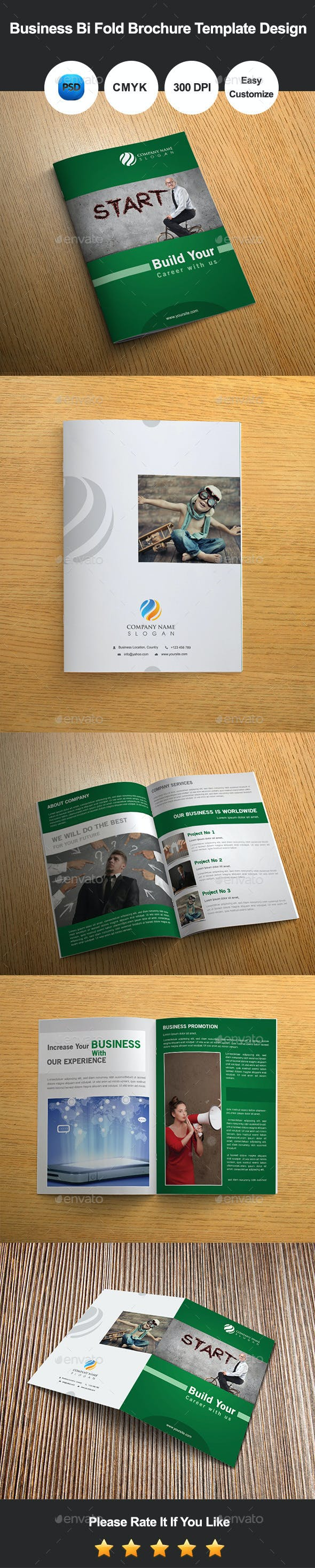 6 pages business bi fold brochure template design by graphicsdesignator