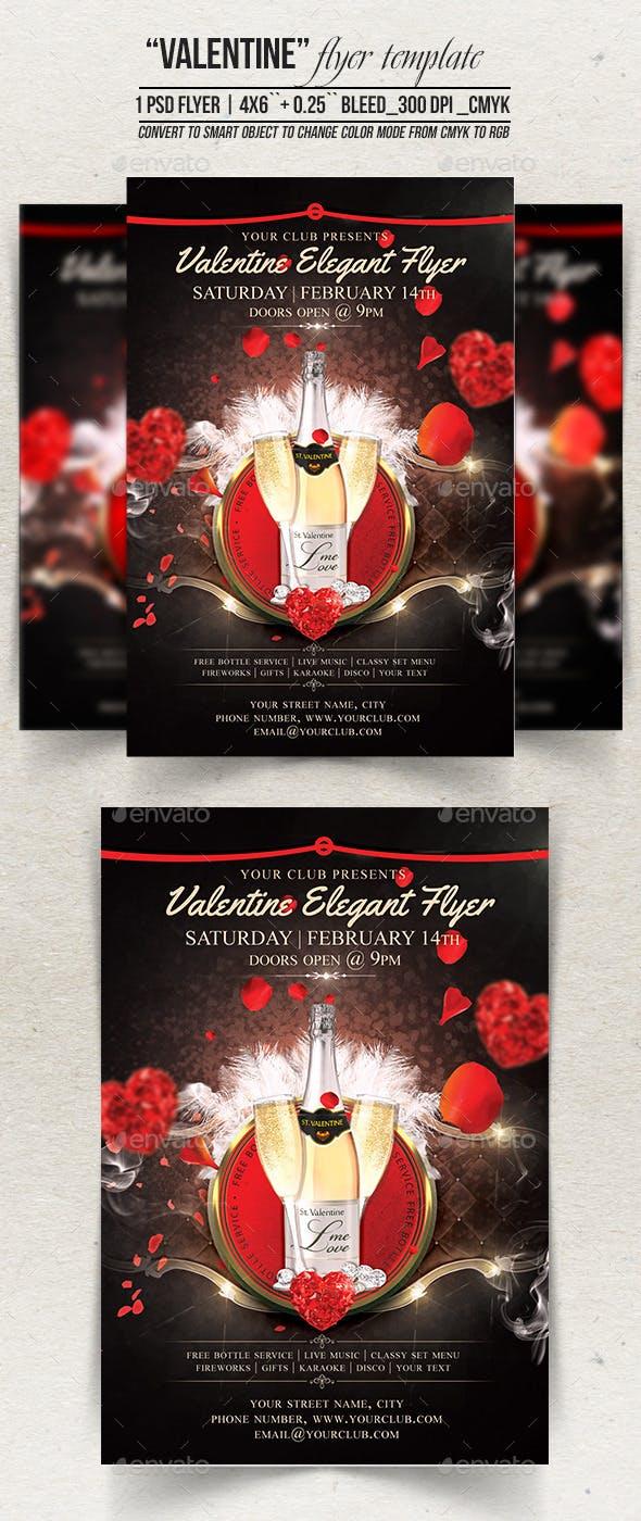 valentine elegant flyer template 4x6 0 25 bleed 300 dpi cmyk