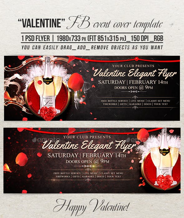 valentine elegant facebook event cover template by ju maj graphicriver