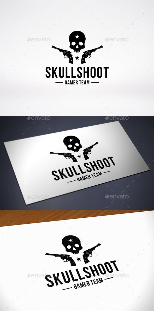 skull game team logo template by bosstwinsmusic graphicriver