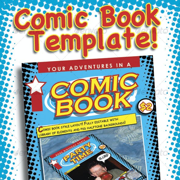 Comic Book Template Graphics, Designs & Templates