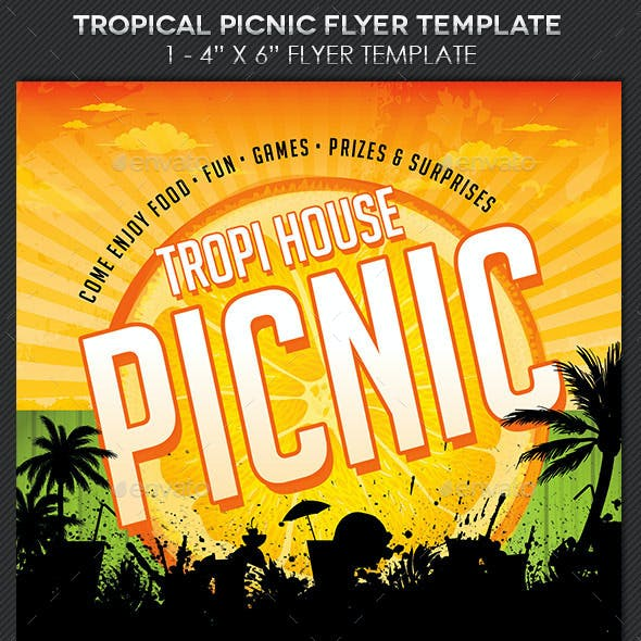 picnic flyer graphics designs templates from graphicriver