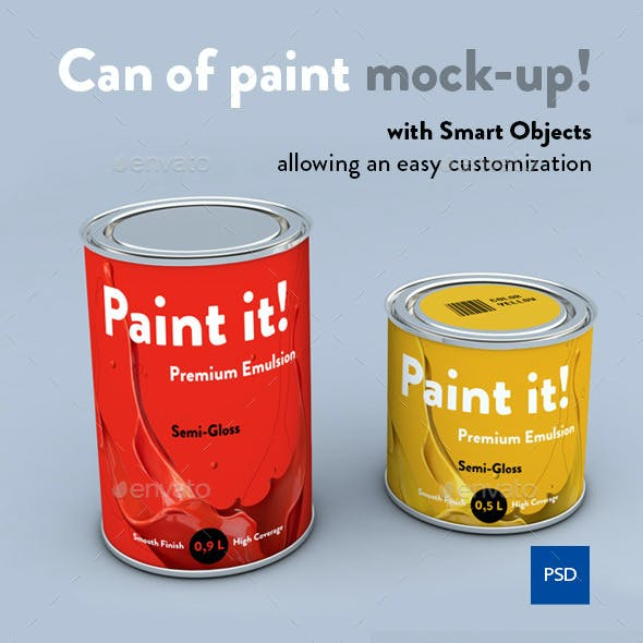 Paint Can Graphics Designs Template With Print Dimensions