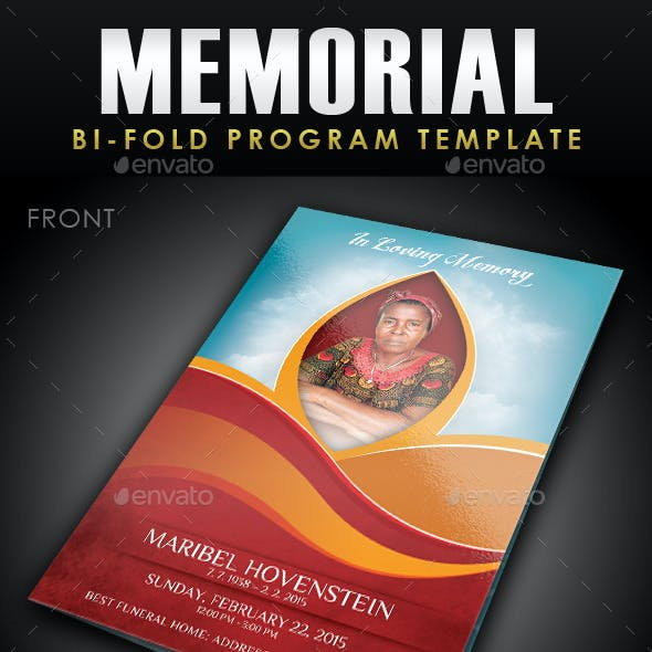 memorial program graphics designs templates from graphicriver
