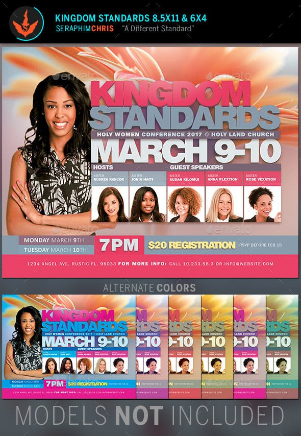 kingdom standards women s conference flyer template by seraphimchris