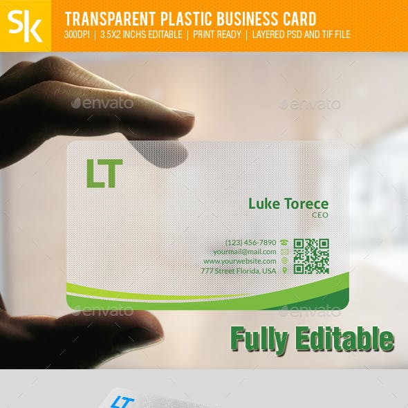 Transparent Business Card Graphics Designs Templates