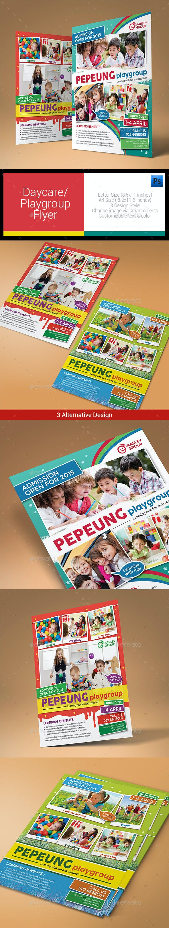 daycare playgroup flyer corporate flyers