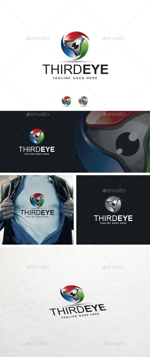 third eye logo template by designgarrad graphicriver