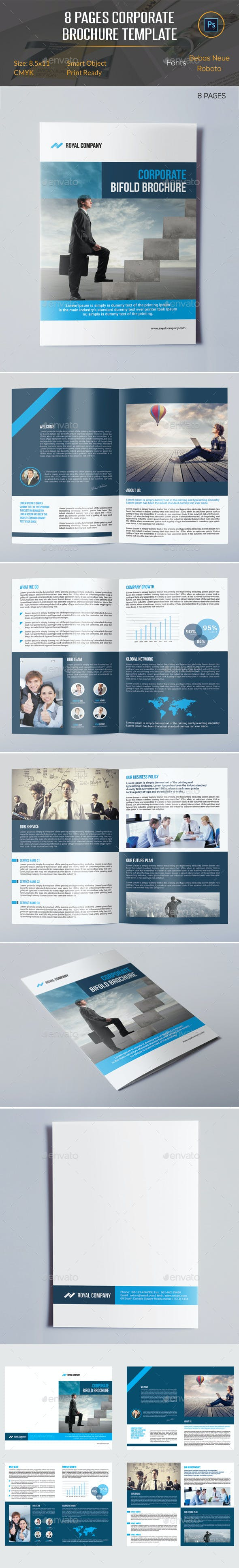 8 pages brochure template by orcshape graphicriver