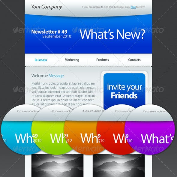 personal newsletter templates from graphicriver