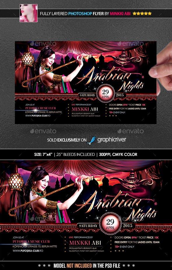 arabian nights poster flyer by minkki graphicriver