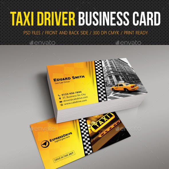 Taxi Driver Cab Business Card By Rapidgraf