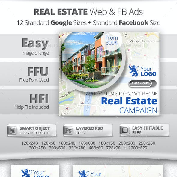 real estate facebook ads graphics designs templates