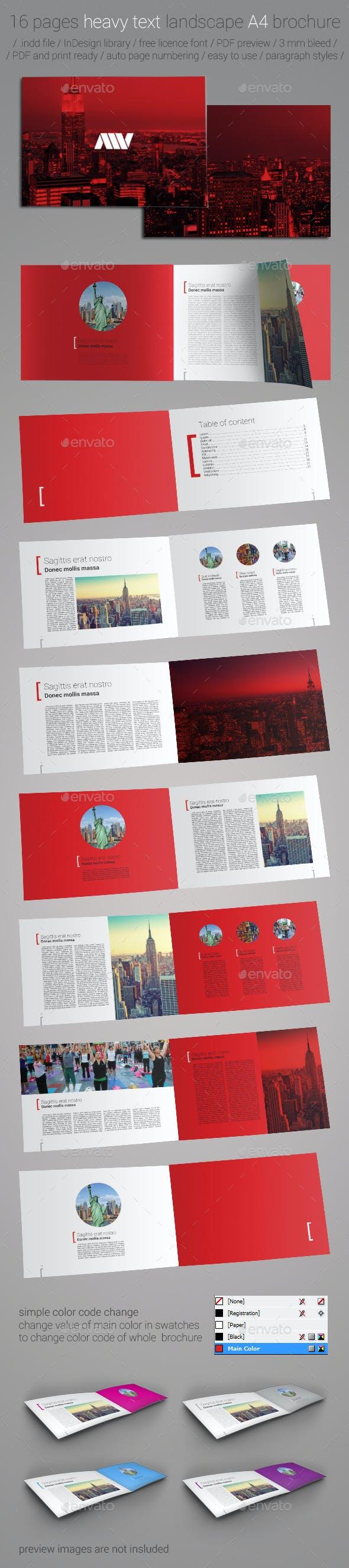 16 pages a4 landscape brochure template by miljan vulovic graphicriver
