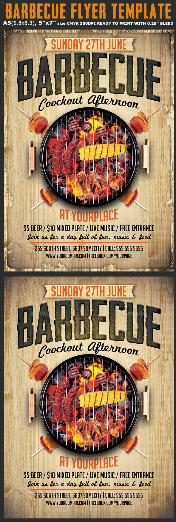 barbecue flyer template by hotpin graphicriver
