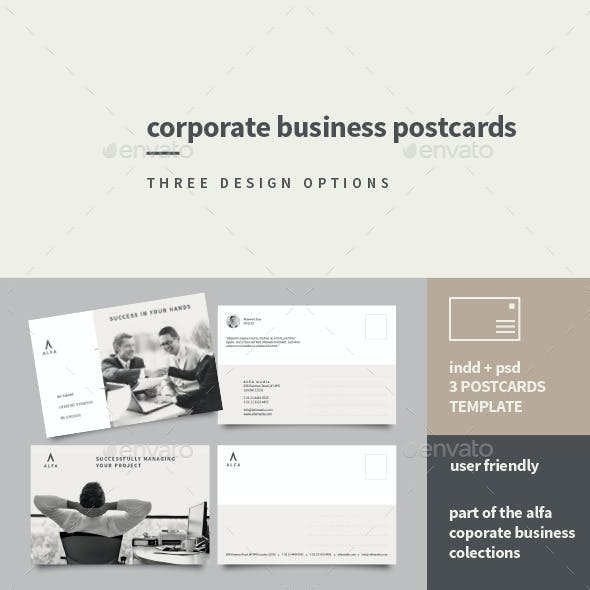 Postcard indesign graphics designs templates corporate business postcards wajeb Image collections