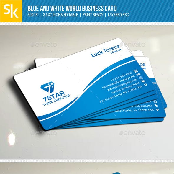 Animation business card templates designs from graphicriver blue and white world business card colourmoves