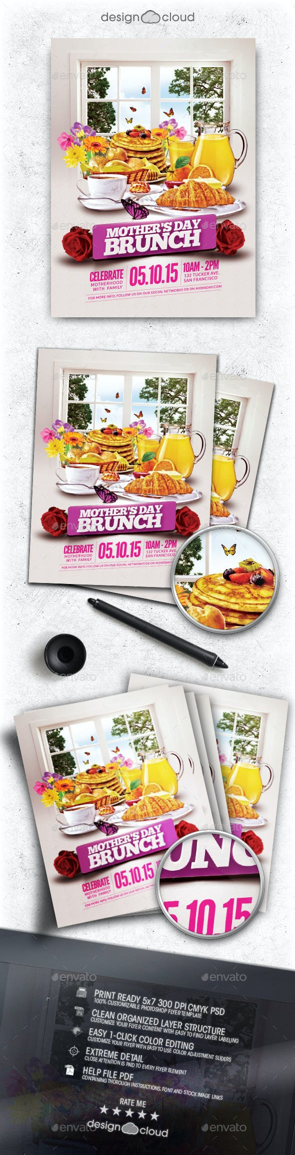 mother s day brunch flyer template by design cloud graphicriver