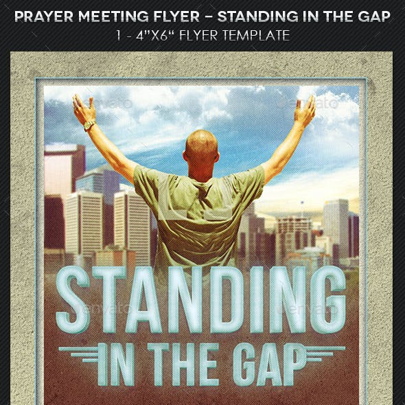 prayer meeting church flyer template by godserv graphicriver