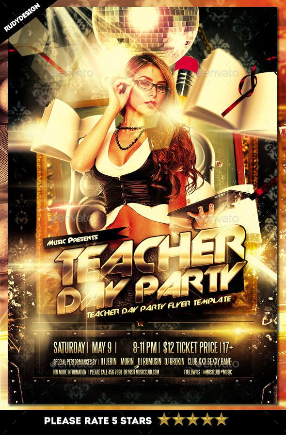 teacher day flyer template by rudydesign graphicriver