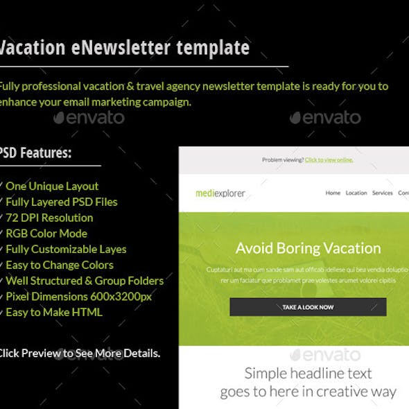 Vacation Email Graphics Designs Template From Graphicriver