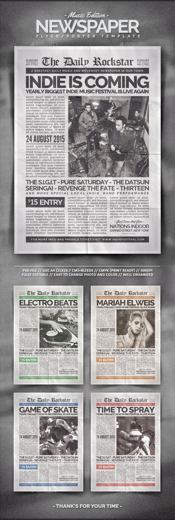newspaper flyer template by brainvasion graphicriver