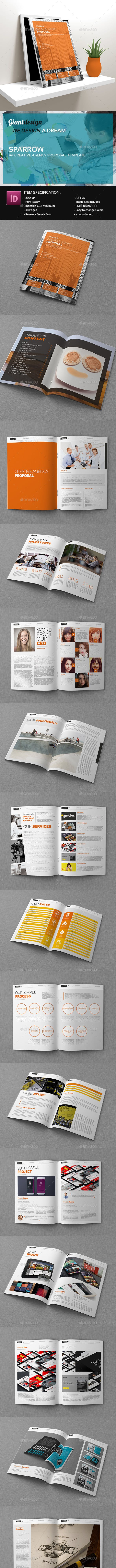 Sparrow Creative Agency Proposal Template By Giantdesign