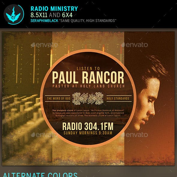 radio show flyer graphics designs templates from graphicriver