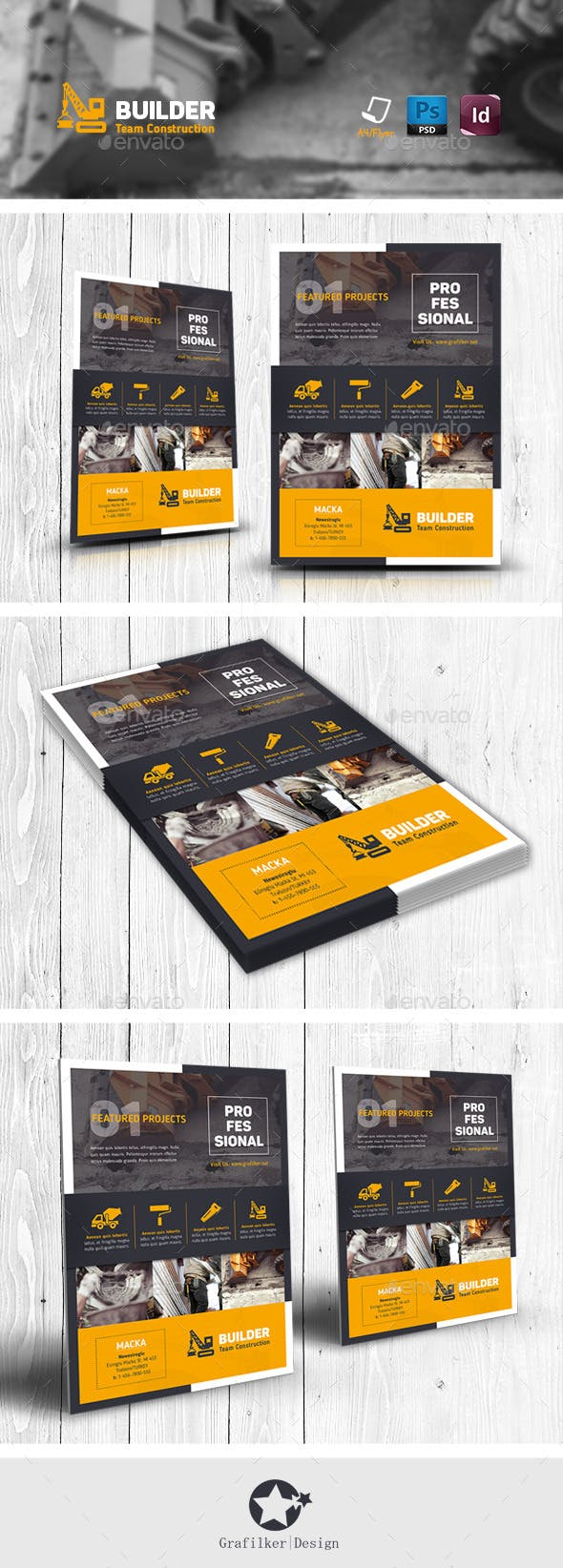 construction flyer templates by grafilker graphicriver