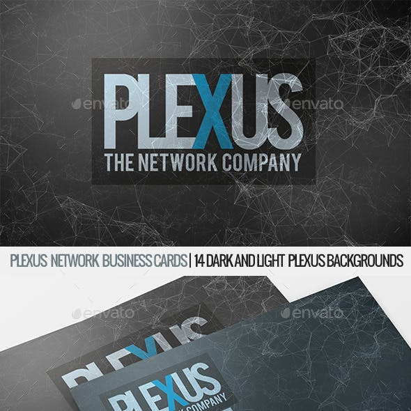 Plexus Business Card Templates Design From GraphicRiver