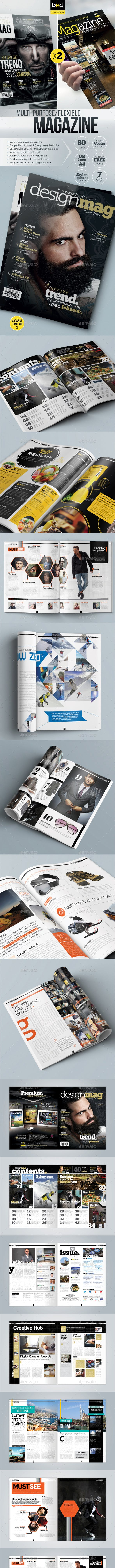magazine template bundle indesign layout v3 by boxedcreative