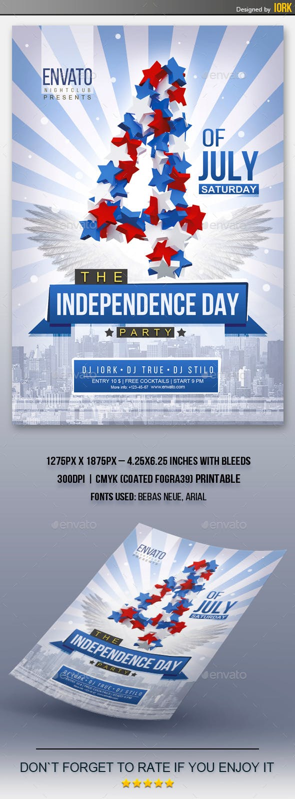 independence day flyer events flyers