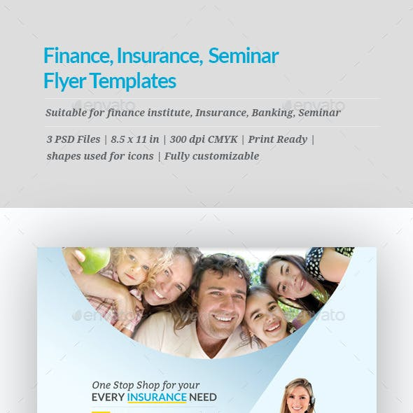 finance insurance seminar flyer templates by geon graphicriver