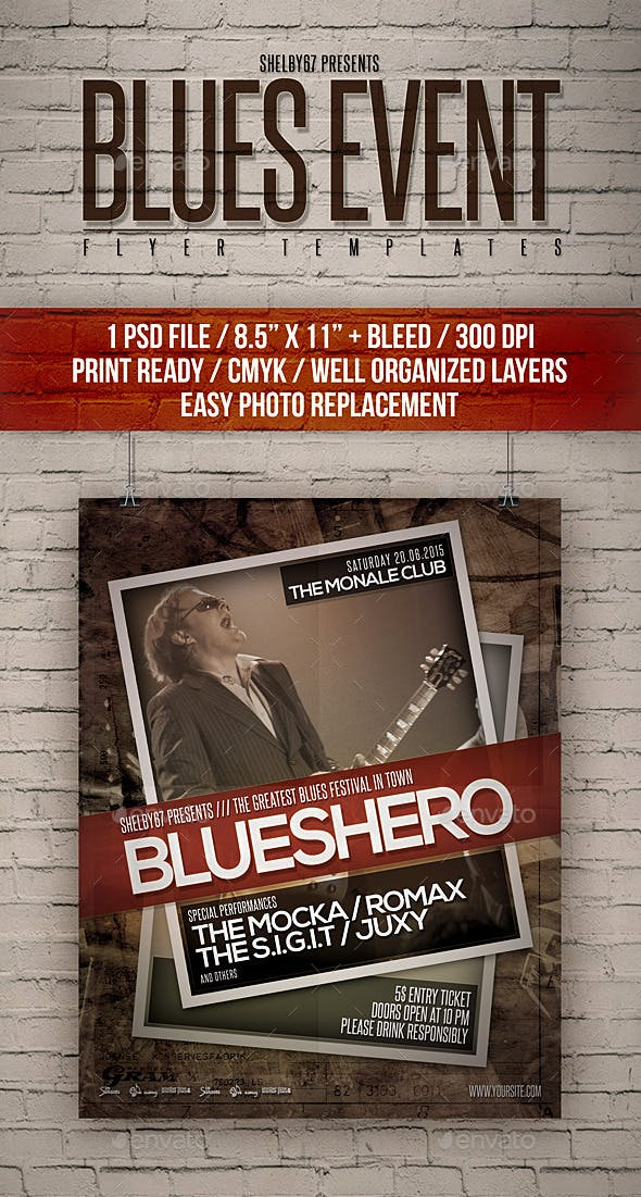 blues event flyer templates by shelby67 graphicriver