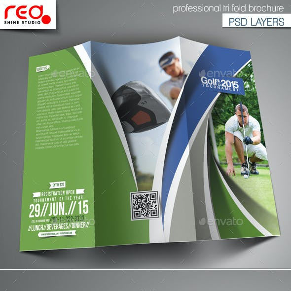 Golf Brochure Graphics Designs Templates From Graphicriver