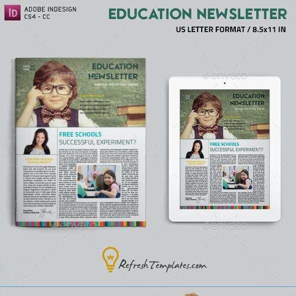 college newsletter templates from graphicriver
