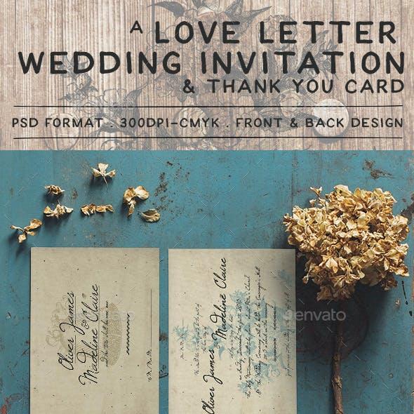 Love Letter Wedding Invitation By Klapauciusco Graphicriver