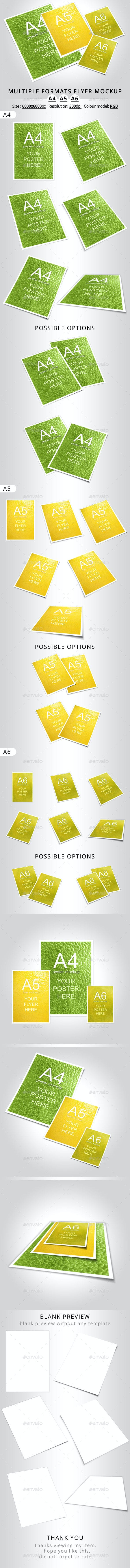 multiple formats flyer mockup a4 a5 a6 by oloreon graphicriver