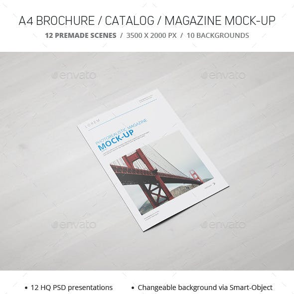 a4 brochure catalogue magazine mockup by webandcat graphicriver