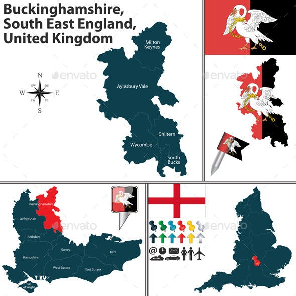 Map Of England Template.Milton Map Graphics Designs Template From Graphicriver